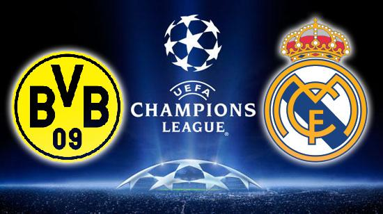 Borussia x Real Madrid Jogo Real Madrid x Borussia Dortmund   Champions League 2013