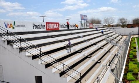Foto do estádio onde será realizado o jogo.