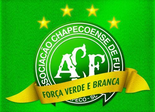 Foto: escudo da Chapecoense, perto da série A.