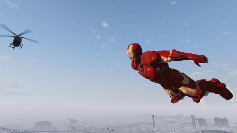 GTA V ganha mod que permite usar poderes do Homem de Ferro